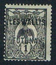 Wallis and Futuna 1 MLH New Caledonia Overprint (BP09314)