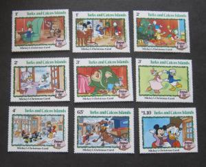 Turks & Caicos 1982 Sc 540-548 Disney set MNH