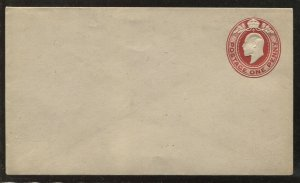 GB KEVII 1d embossed envelope unused