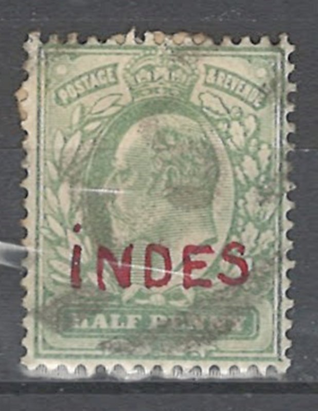 COLLECTION LOT # 2558 GREAT BRITAIN #143 1904 OVERPRINTED INDES
