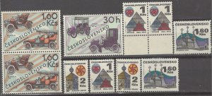 COLLECTION LOT # 3149 CZECHOSLOVAKIA 9 MNH STAMPS CLEARANCE 1969+ CV+$10