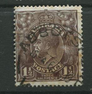 Australia  #24 Used 1918 Single 1.1/2p Stamp