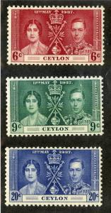 Ceylon 275-277 MH SCV $8.25 BIN $3.25 ROYALTY