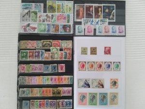 Lot Monaco 101 stamps used/most unused