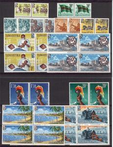 Tanganyika, 45-56, Various Designs Blocks (4),**MNH**