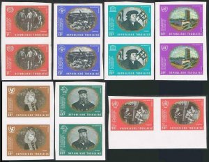 Togo 751-C138 imperf pairs,MNH.Michel 826B-832B. UN,25th Ann.1970.Paintings.