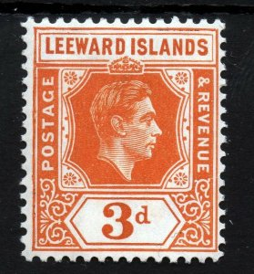 LEEWARD ISLANDS King George VI 1938-51 3d. Orange SG 107 MINT