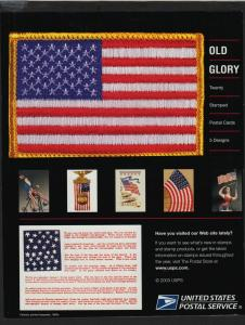 2003 OLD GLORY Sc UX394a postal card booklet of 20 CV $25
