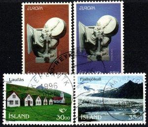 Iceland #799-802  F-VF Used CV $4.15 (X9634)