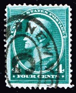 US STAMP #211 – 1883 4c Jackson, blue green used