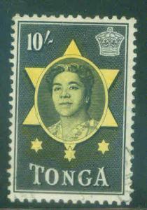 Tonga Scott 112 Used 10 shilling  lightly canceled CV $7.75