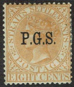 PERAK 1889 QV PGS 8C OFFICIAL