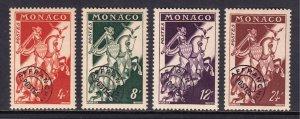 Monaco - Scott #321-324 - MLH - Gum toning - SCV $20.00
