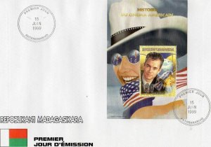 Malagasy 2011 SPACE APOLLO XIII s/s Perforated in Official FDC