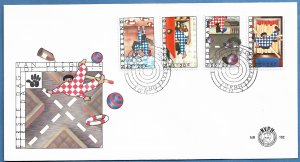 NETHERLANDS 1977 CHILDHOOD DANGERS Semi Postal Set on Cachet FDC Sc B539-B542