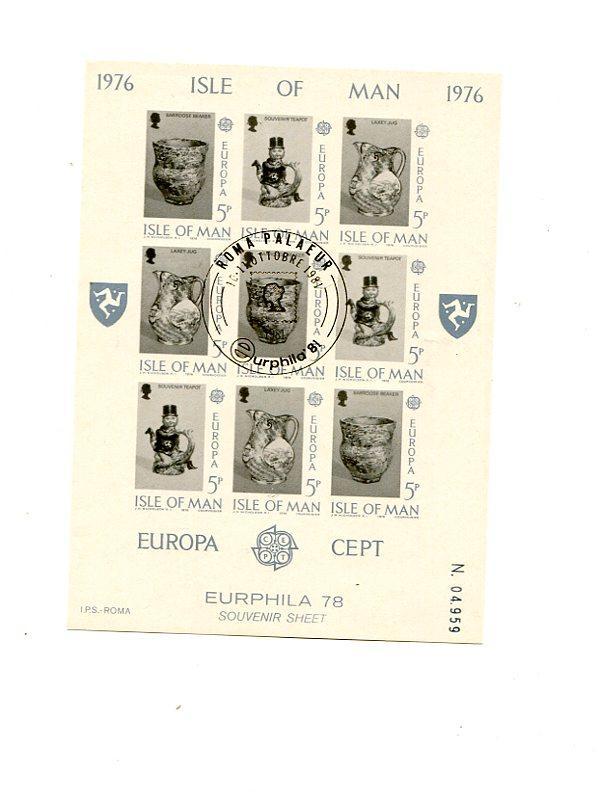 Isle of Man   1975  mini  sheet  Mint VF NH