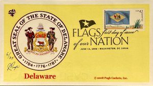 Pugh Cachets 4282 Flags of Our Nation Stamp FOON Great Seal of Delaware