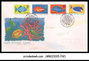 COCOS KEELING ISLANDS - 1996 MARINE LIFE / FISH - 4V - FDC