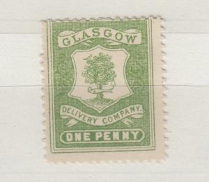 GB Glasgow 1d Green Delivery Company Cinderella MNH J5826