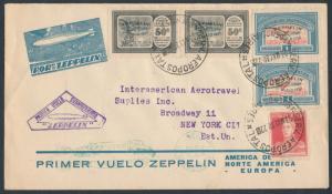 SIEGER #63D MAY 1930 ARGENTINA FLIGHT COVER HV7423