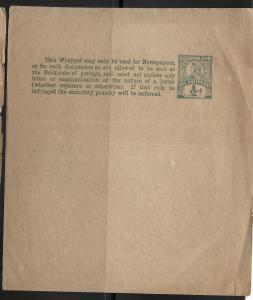 Queensland Postal Stationery Wrapper H&G 9 Unused