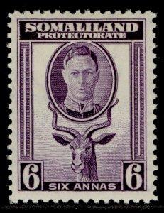 SOMALILAND PROTECTORATE GVI SG110, 6a violet, M MINT.