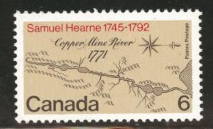 Canada Scott 540 MNH** 1971 Map stamp