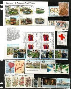 Ireland Scott 684a // 835a Mint NH sets (Catalog Value $57.15)