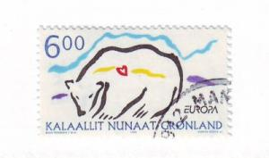 Greenland Sc 348 1999 Europa Polar Bear stamp used