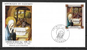 Dahomey C147 40fr Christmas Painting FDC First Day Cover