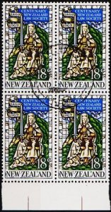 New Zealand. 1969 18c (Block of 4) S.G.896 Fine Used