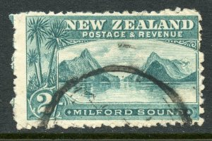 New Zealand 1903 Milford Sound 2/- Used. Laid Paper SG269a