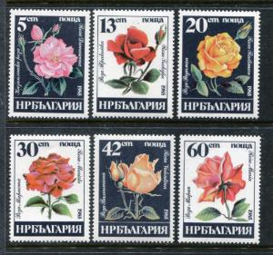 Bulgaria 3075-3080, MNH,  Flowers Roses 1985. x27123