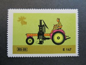 A4P4F23 Reklamemarke DLT Landmaschinen mint with gum