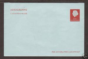 Netherlands, unused 1967 45c Aerogramme VF