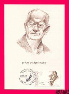 KYRGYZSTAN 2017 Famous People Writer Sir Arthur Charles Clarke Maxicard Card