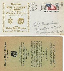 BOY SCOUTS GOLDEN JUBILEE - United Boys Brigades cachet 1960