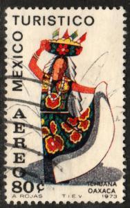 MEXICO C357, TOURISM PROMOTION, TEHUANA GIRL, OAXACA. USED (1260)