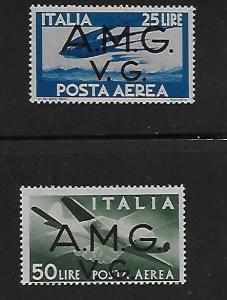 Italy AMG-VG Airmail Stamp Set #1LNC-5 & 1LNC7 MNH