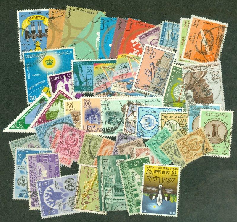 selection Libya 1955-64 49 different CV $30