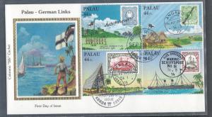 Palau, C9a, German Links ColoranoSilk FDC,Used