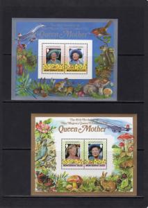 Montserrat 1986 Sc#563/564  Concorde/Mushrooms/Butterflies/Birds 2 SS Perforated