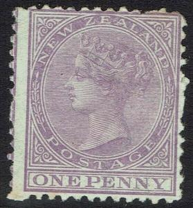 NEW ZEALAND 1874 QV 1D WMK STAR NZ PERF 12.5