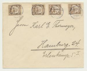TOGO GERMAN COLONIES 1910 COVER LOME-HAMBURG, 4x3pf RATE (SEE BELOW