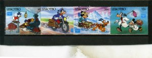 LESOTHO 1986 WALT DISNEY STAMP EXPO AMERIPEX'86 SET OF 4 STAMPS MNH
