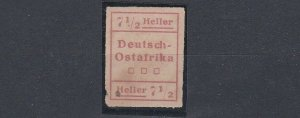 GERMAN EAST AFRICA  1916  WUGA LOCAL 7 1/2H UNISSUED NO GUM