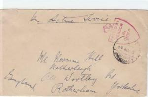 egypt 1940's on active service british field post censor cover  ref r15547