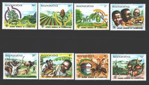 Rwanda. 1982. 1159-66. Bee products production fish fruits vegetables. MNH.