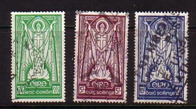 Ireland Sc 121-3  1943 St Patrick stamps used