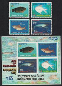 Bangladesh Marine Life Fish 4v+MS SG#209-MS213